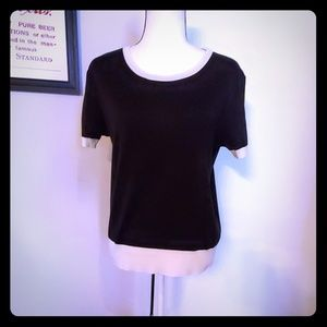 Joan Vass Short Sleeve Sweater